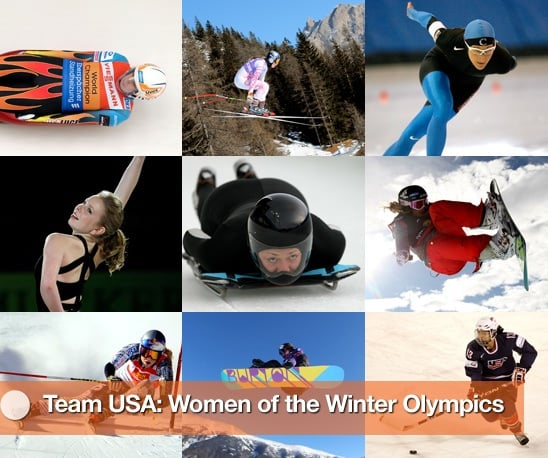 Women Athletes from Team USA in the 2010 Winter Olympics