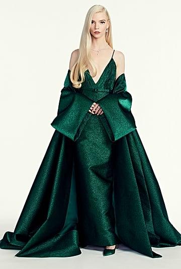 Anya Taylor-Joy's Green Dior Dress at the Golden Globes