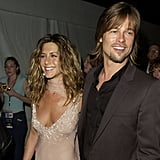 Brad Pitt was by Jennifer Aniston's side after she won for best actress in Friends in 2002.