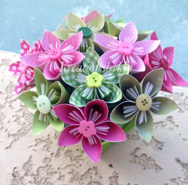 Origami flower bouquet cheap bridal shower products popsugar origami flower bouquet mightylinksfo