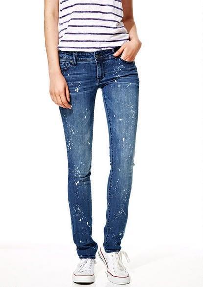 Delia's Taylor Low-Rise Skinny Jeans in Indigo Splatter ($50)
