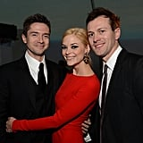 Topher Grace! Topher, seen here with Jaime and her husband, Kyle Newman, was named as James's godfather shortly after his birth in October 2013. Jaime announced her second pregnancy in February 2015 and soon gave the godmother title to . . .