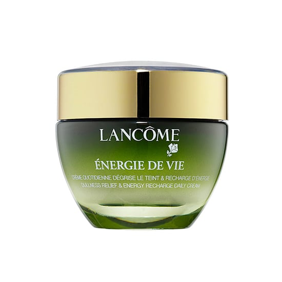 From staring at a computer screen to battling pollution and late nights, my skin can start to look more tired than I really am, which is why I am a new fan of Lancome Energie de Vie Cream ($55). This intense moisturizer infuses skin with root extracts used in traditional Chinese beauty rituals. The result is a healthier, more radiant-looking complexion.  — KD