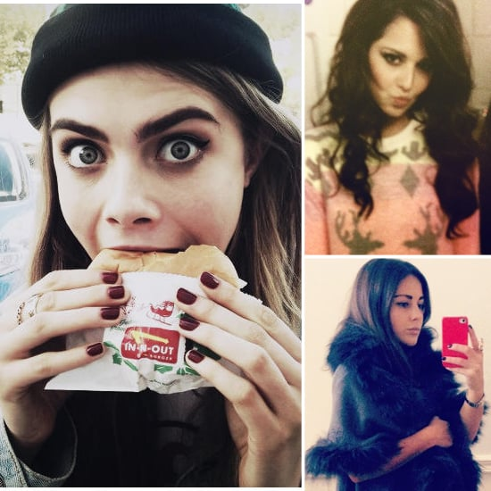 Check out these fun celebrity Instagram and Twitter pictures from the weekend where celebrities like Cara Delevigne and Cheryl Cole pose with funny accessories such as a giant cheeseburger and a silly Christmas jumper for the cameras. What's the funniest social media photo you've ever taken? Leave a comment to let us know!