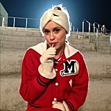 Kevin McHale snapped a shot of one of Glee's new cast members, Becca Tobin. Source: Instagram user kevinmchale