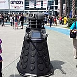 Yep, there's a person inside that Dalek costume.