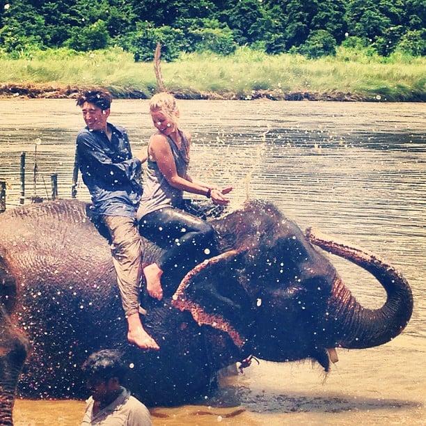 Take an Elephant Shower in Nepal