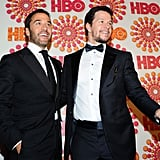 Mark Wahlberg and Jeremy Piven shared a moment on the red carpet at the HBO Emmy afterparty.
