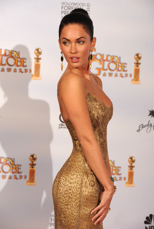 Megan Fox in Ralph Lauren at the 2009 Golden Globes