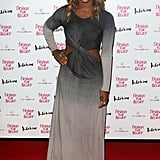 Alexandra Burke hit the red carpet for Naomi Campbell's Fashion for Relief charity dinner in London.