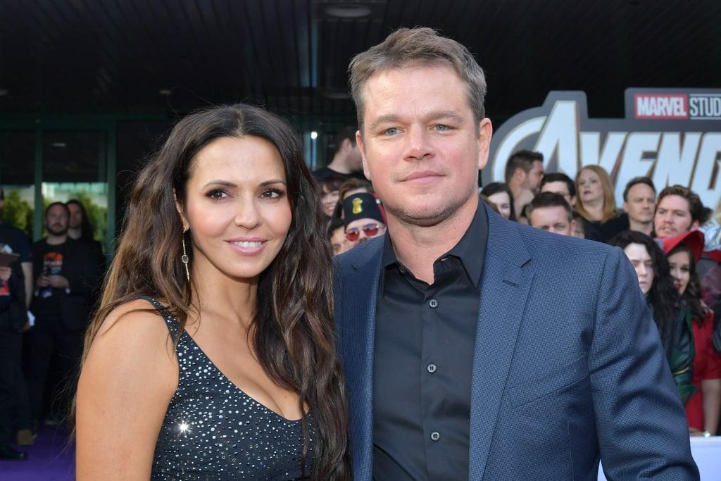 Pictured: Luciana Barroso and Matt Damon