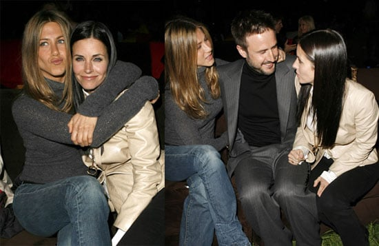 Jen, Courteney & David Cozy Up for The Tripper