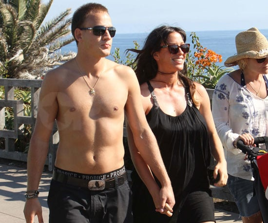 Slide Picture of Alanis Morissette Pregnant and Shirtless Husband