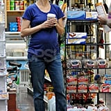 Keri Russell smiled while grocery shopping in NYC.