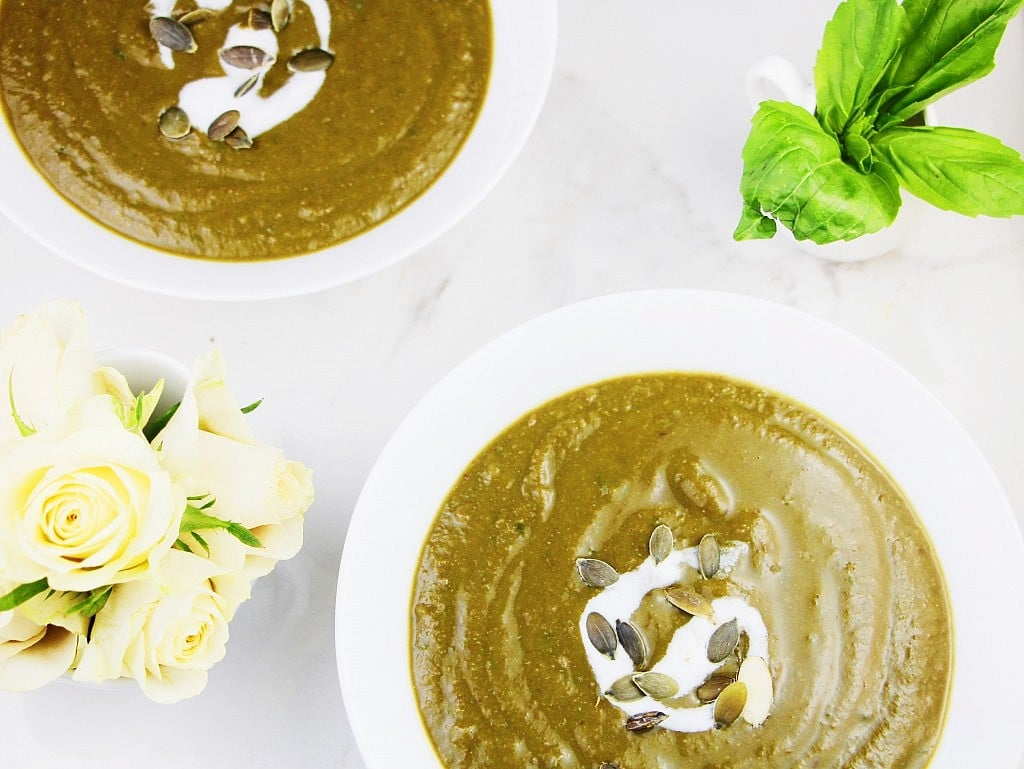 Kale, Lentil, and Basil Soup