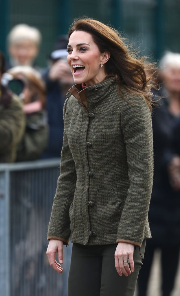 "Kate Middleton is getting back into the swing of things after the royal holiday celebrations with her first official royal engagement of the year, and as you'd expect, it's a cute one! On Jan. 15, the Duchess of Cambridge spent the morning at King Henry's Walk Community Garden in Islington, London, where she spoke to volunteers about the impact of gardening and homegrown food. The duchess, who was dressed in a very appropriate army-green outfit, excitedly chatted with children from St. Jude and St. Paul's Primary School about pizza, birdwatching, and learning outdoors. Kate might also have been getting some gardening tips during her visit, as Kensington Palace announced she will be codesigning the RHS Garden for the Chelsea Flower Show later this year. In a press release, the palace said, ""The garden will build on Her Royal Highness's passion for the outdoors and the proven benefits that nature has on physical and mental health — The Duchess is a strong advocate for the positive impact that nature and the environment can have on childhood development."" Ahead, get a closer look at all of Kate's cute moments from the visit.       Related:                                                                                                           60 Snaps of Kate Middleton With Little Girls That Are Sure to Make Your Heart Explode"