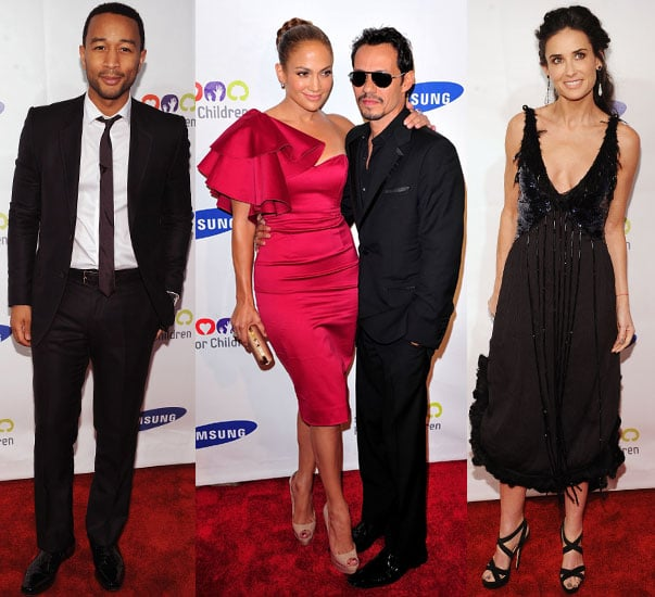 Jennifer Lopez and Marc Anthony at Hope For Children Gala