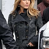 Jennifer Aniston Filming The Baster in NYC