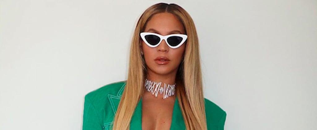 Beyoncé's Green Suit at the 2020 Super Bowl