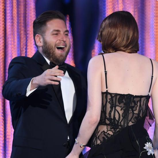 Emma Stone and Jonah Hill at the 2017 SAG Awards