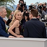 Diane Kruger turned to the camera at the jury photocall at the Cannes Film Festival.