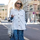 When you need a layer over your Summer dress, a white denim jacket is perfect.