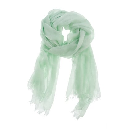 For a pop of color (and a sheer hue, at that), just add this minty scarf into the mix. J.Crew Refined Silk-Cashmere Wrap in Sheer Mint ($75)