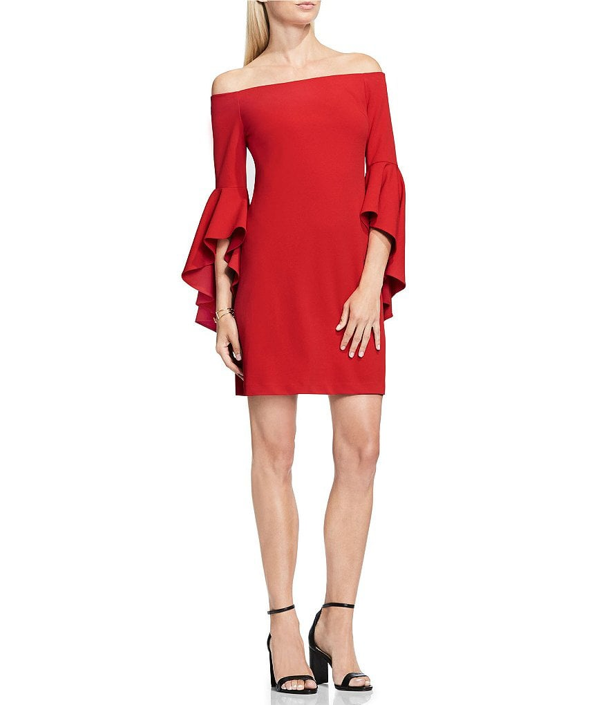 Vince Camuto Off-the-Shoulder Bell Sleeve Dress ($119) | Fancy ...