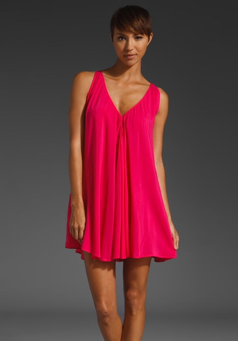 You'll stand out for sure in this hot pink party dress.  Riller & Fount Mulberry Sleeveless Mini ($125)