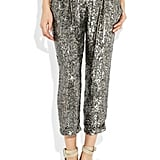Wear this stunner with flats and a tee during the day, and with sky-high heels and a cropped top for nighttime festivities. Adam Sequined Silk Cropped Pants, ($470)