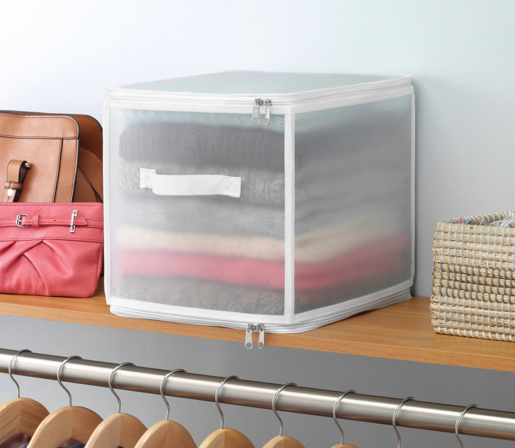 Whitmor Collapsible Zip Cube Clothing Storage Boxes