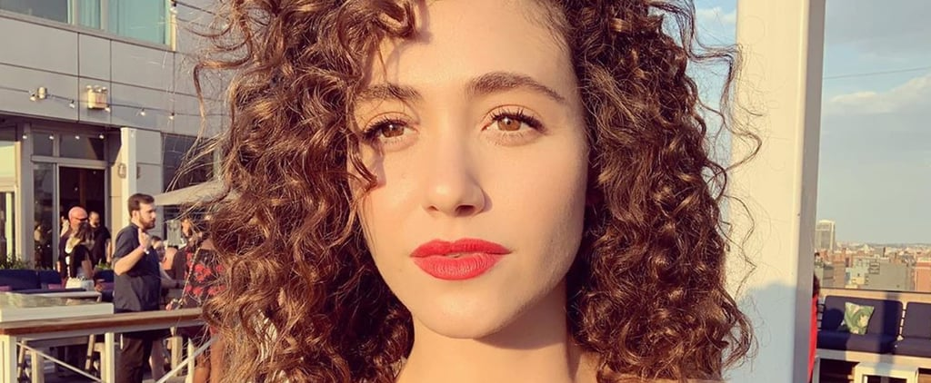 Emmy Rossum With Curly Hair August 2019