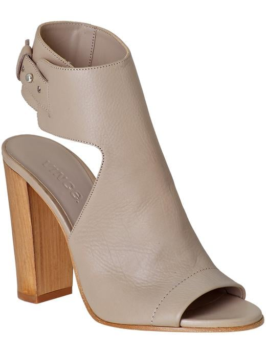 Vince Addie taupe ankle-strap thick-heel bootie ($395)