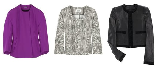 Shopping: Collarless Jackets