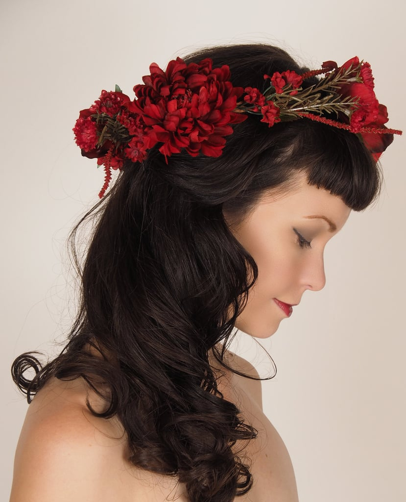 A Gorgeous Crimson Flower Crown 94 Is A Beautiful Way To Add Some