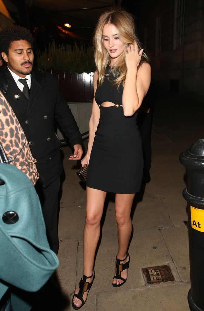 Rosie Huntington-Whiteley hit up the AnOther magazine bash in London.