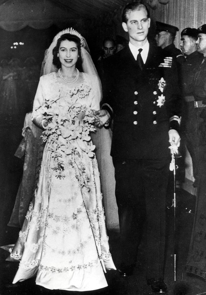 The wedding of Princess Elizabeth and Prince Philip in 1947.