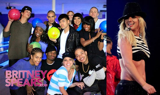 Photos of Britney Spears Performing in Newark, Bowling With Her Dancers