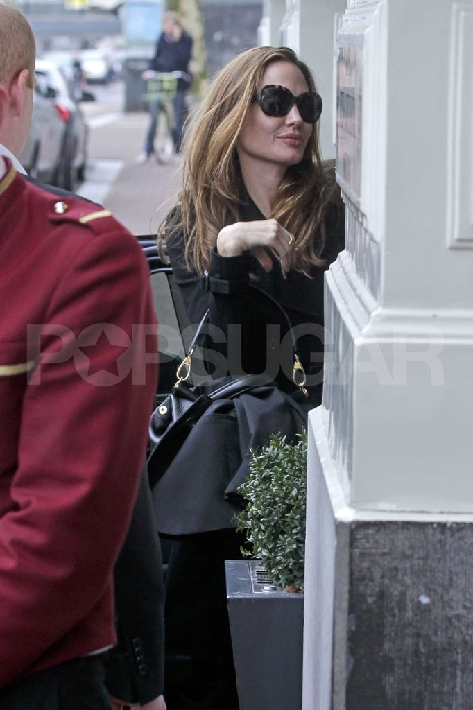 Angelina Jolie was in Amsterdam for a trial.