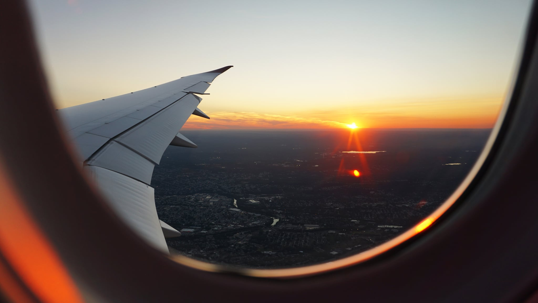 Image result for sunrise in airplane