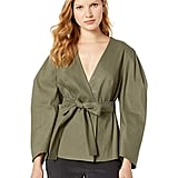 BCBG Max Azria Puff Sleeve Wrap Jacket