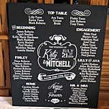 Hand-Painted Huge Wedding Seating Plan Board