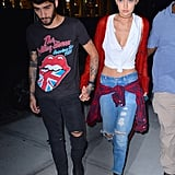 Zayn and Gigi showed us the casual way to do it.