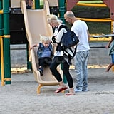 Gwen Stefani and Zuma Rossdale at the park.