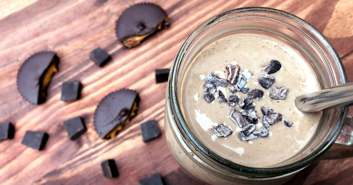Sip on a Reese's! This Chocolate Peanut-Butter-Cup Smoothie Offers 28 Grams of Protein