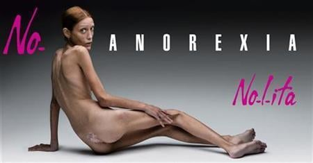Fab Flash: Anorexic Woman Used in Italian Fashion Ad