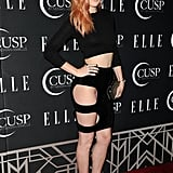 Rumer Willis wore a revealing skirt when she attended Elle's Women in Music event on Tuesday in Hollywood.