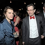 Gary Oldman said hello to Emile Hirsch.