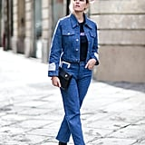 With an equally classic denim jacket, and a no-frills tee and boots
