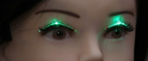 Light-Up LED Lashes Are Fit For a Sexy Robot Dance Party